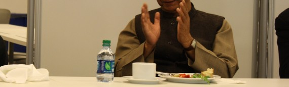 A busy Thursday: Lunch with Muhammad Yunus and Boston Beta demo night