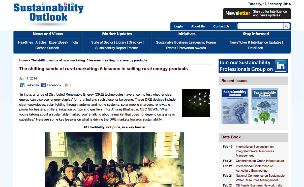 2014.01.17 Sustainability Outlook screenshot