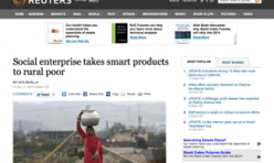 2014.04.11 Reuters Social enterprise takes smart products to rural poor