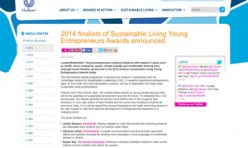 2014.11.03 Unilever Sustainable Living Finalists