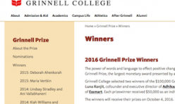 2016.10.04 Grinnell Prize Winners